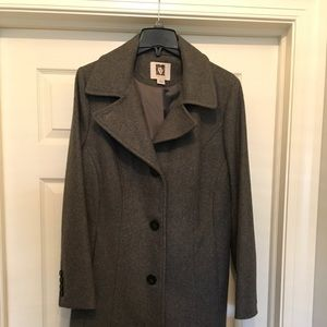 Grey wool Anne Klein ladies dress coat